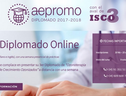 Tercer Diplomado a distancia y bilingüe (castellano e inglés) de Ozonoterapia