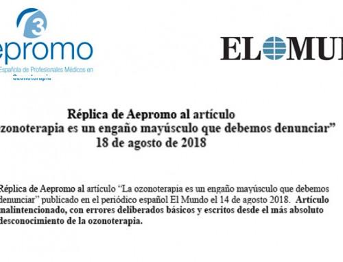 Reply of AEPROMO to the Spanish newspaper El Mundo