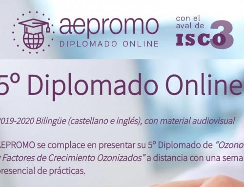 Quinto Diplomado a distancia y bilingüe (castellano e inglés) de Ozonoterapia