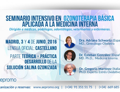 Intensive Seminar in basic Ozonoterapia applied to internal medicine