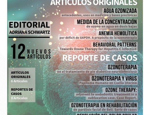 NEW ISSUE OF THE SCIENTIFIC JOURNAL OF AEPROMO Ozone Therapy Global Journal  (former Spanish Journal of Ozone Therapy – Revista Española de Ozonoterapia). Vol. 9, No. 1, 2019
