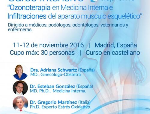 Curso Intensivo Teórico Práctico Ozonoterapia en Medicina Interna e Infiltraciones del Aparato Músculo Esquelético