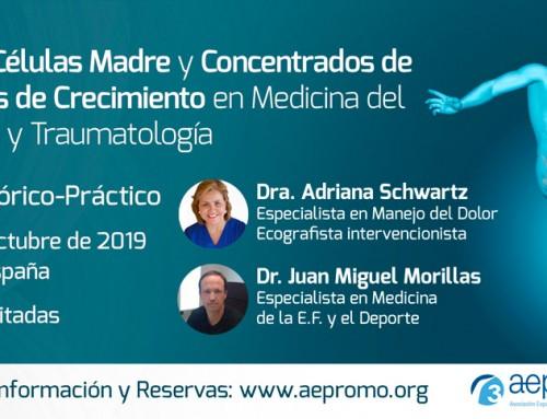 Curso de Ozono, Células Madre y Concentrados de Factores de Crecimiento en Medicina del Deporte y Traumatología. Octubre 2019