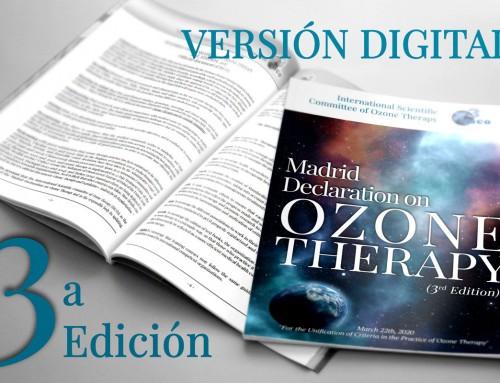 Declaración de Madrid sobre Ozonoterapia  ISCO3, 3ª edición, 2020, 103 páginas