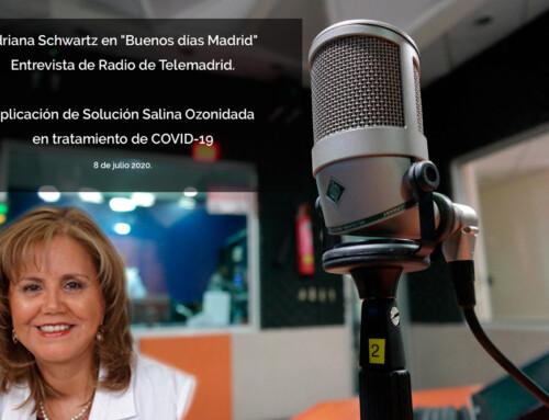 Adriana Schwartz, habla de O3SS y COVID-19 en la Radio de Telemadrid