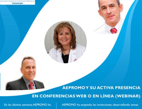 AEPROMO Y SU ACTIVA PRESENCIA EN CONFERENCIAS WEB O EN LÍNEA (WEBINAR)