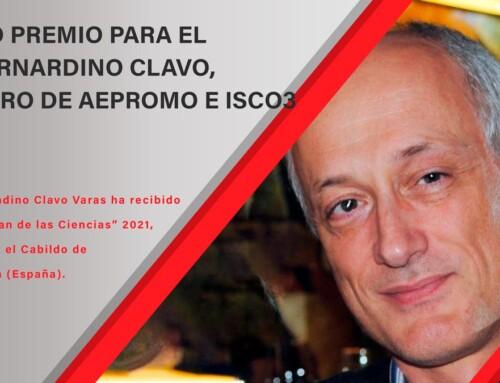 NUEVO PREMIO PARA EL DR. BERNARDINO CLAVO, MIEMBRO DE AEPROMO E ISCO3