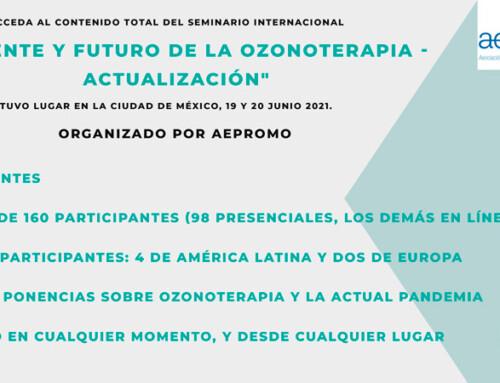 Seminario «Presente y Futuro de la Ozonoterapia. Actualización»